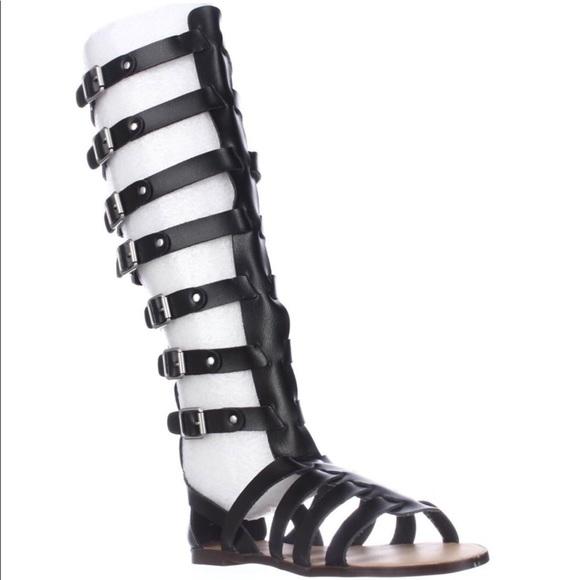 59631d6e026 NWT Madden girl knee high black gladiator sandals
